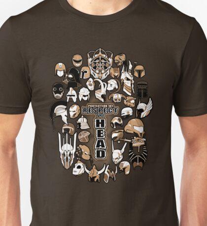 Helmets of fandom - respect the head! Unisex T-Shirt