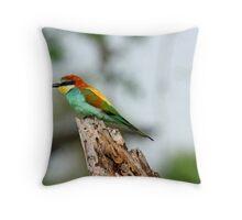 A European Bee-eater Throw Pillow