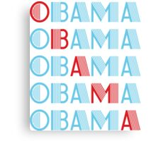 obama : text stacks Canvas Print