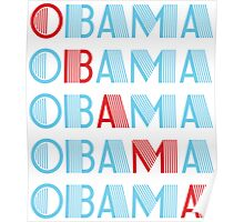obama : text stacks Poster