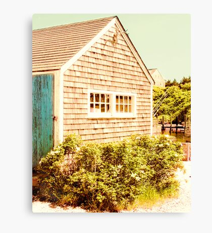 Marthas Vineyard Fishing Shed Canvas Print