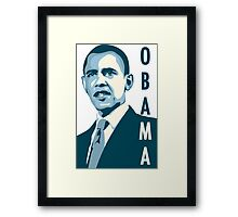 obama : verticle text Framed Print