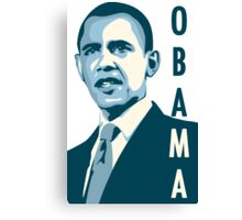 obama : verticle text Canvas Print