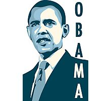 obama : verticle text Photographic Print