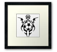 futbol : tribalz Framed Print