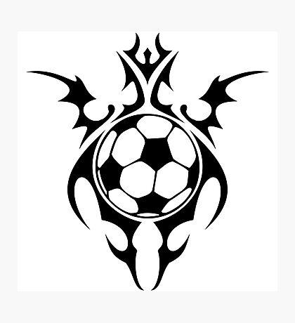 futbol : tribalz Photographic Print