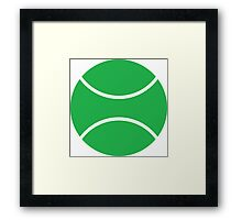 tennis ball Framed Print