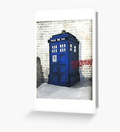 Dalek Gettin' Up Greeting Card