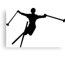 ski : silhouettes Canvas Print
