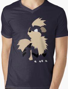 058 Mens V-Neck T-Shirt
