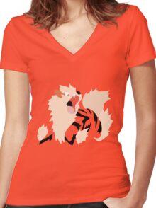 059 Women's Fitted V-Neck T-Shirt