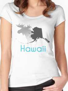 Wrong State Hawaii/Alaska Women's Fitted Scoop T-Shirt