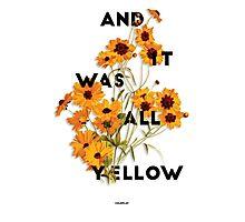 Yellow 3 Photographic Print