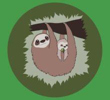 Sloth Mama and Baby Kids Tee