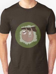Sloth Mama and Baby Unisex T-Shirt