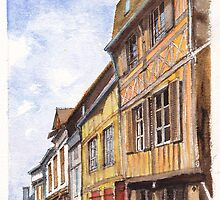 Vernon Colombage - Half-timbered houses in Vernon France by Dai Wynn