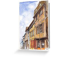 Vernon Colombage - Half-timbered houses in Vernon France Greeting Card