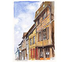Vernon Colombage - Half-timbered houses in Vernon France Photographic Print