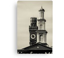 Tower and a steeple Canvas Print