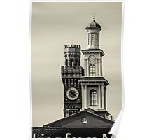 Tower and a steeple Poster