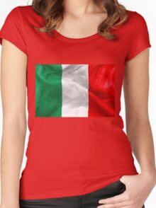 Italian Flag Women's Fitted Scoop T-Shirt