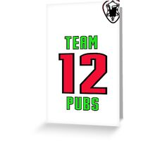 12 pubs of christmas football jersey Greeting Card
