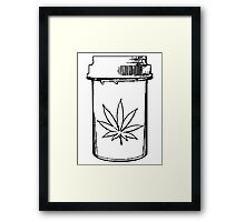marijuana medical bottle Framed Print
