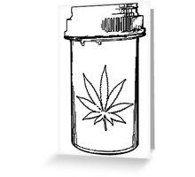 marijuana medical bottle Greeting Card