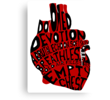 empty chest : anatomical heart (large red) Canvas Print