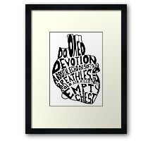 empty chest : anatomical heart  Framed Print