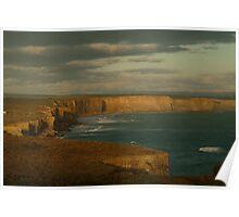 Joe Mortelliti Gallery - Port Campbell coastline and cliffs, Great Ocean Road, Victoria, Australia.  Poster