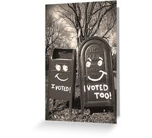 voting mailboxes Greeting Card