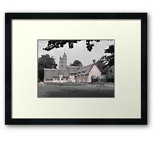 Pink Cottages, Cavendish, Suffolk Framed Print