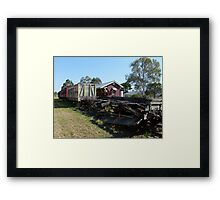 Linville doesn't get too many trains these days! Framed Print