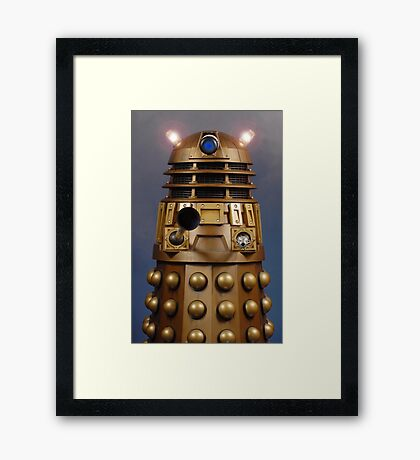 Doctor Who Gold Dalek Framed Print