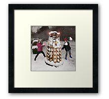 Snowball attack for Doctor Who Dalek Framed Print