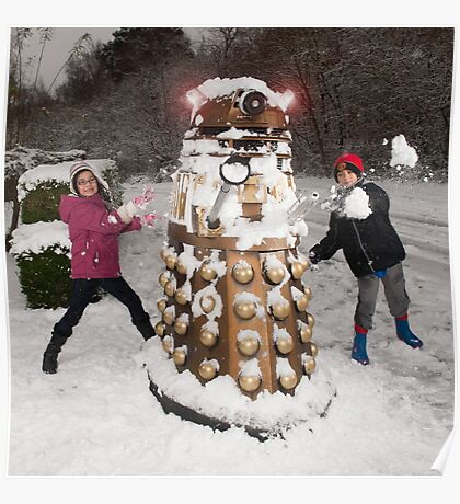 Snowball attack for Doctor Who Dalek Poster