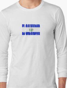 El Salvador Logo-Bandera Long Sleeve T-Shirt