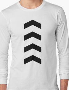 These Chevrons Point in One Direction Long Sleeve T-Shirt