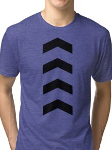 These Chevrons Point in One Direction Tri-blend T-Shirt