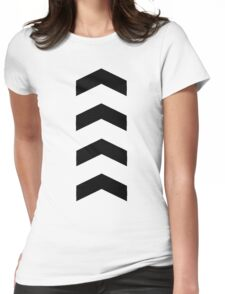 These Chevrons Point in One Direction Womens Fitted T-Shirt