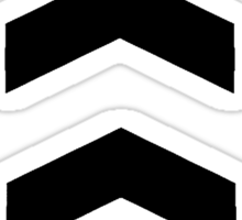 These Chevrons Point in One Direction Sticker