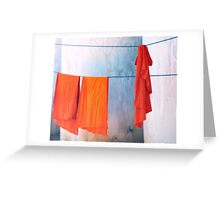Monk robes  Greeting Card