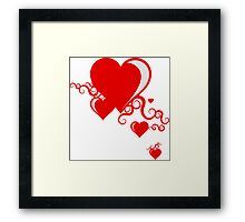 squiggle hearts Framed Print