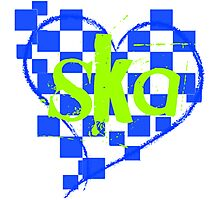 ska : checkered heart Photographic Print