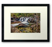 A Mountain Flow Framed Print