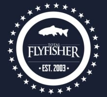 TFF Fly Fishing Insignia (white) by dhpublishing