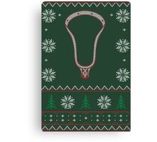Lacrosse Ugly Sweater 01 Canvas Print