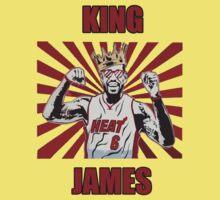Lebron James T-shirt - King James by razaflekis