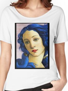 Birth Of Venus In Blue Women's Relaxed Fit T-Shirt